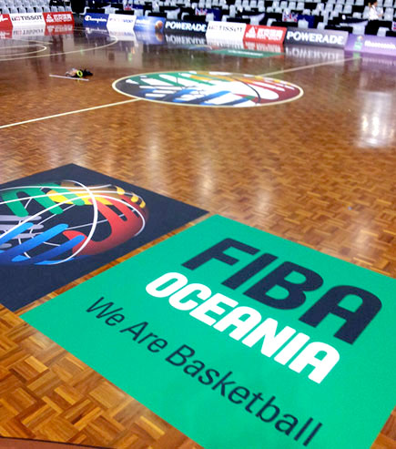 promotional basketball flooring