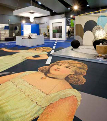 women in print exhibition flooring